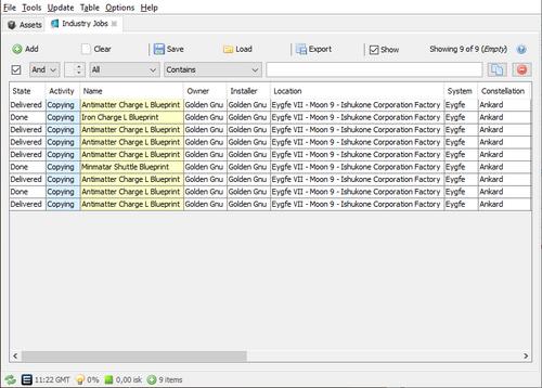 jEveAssets - Eve-Online Asset Manager - EVE NiKR NET